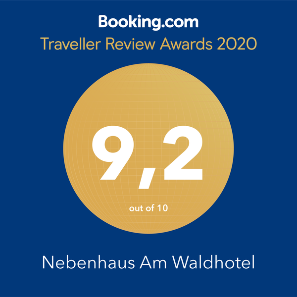 Booking.com Award 2020 Nebenhaus am Waldhotel Note 9.2